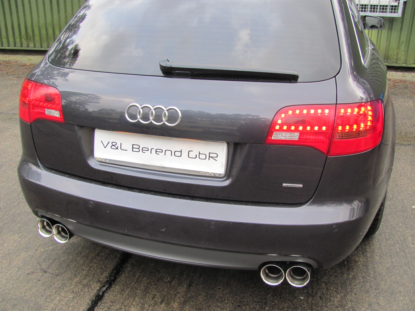 audi a6 4f2 avant c6 3 0 tdi quattro duplex exhaust end pipe performance system ebay. Black Bedroom Furniture Sets. Home Design Ideas